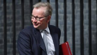 """Image copyright EPA The government needs to seek the """"maximum possible consensus"""" on Brexit in the light of the general election result, Michael Gove says.The new environment secretary, a leading figure in the campaign to leave the EU, said the referendum result should be """"honoured in the right way"""".The Tories no longer have a Commons majority with EU negotiations set to begin next week.There have been calls for a cross-party commission to seek agreement. BBC Election Live - rolling text and video updates Quick guide to what's going on Kuenssberg: PM survives first bout of battle for control In the Daily Telegraph, Former Conservative leader William Hague said a """"change of style and substance"""" was now needed, suggesting a commission, also including business leaders and trade unions, to find areas of agreement. Scottish First Minister Nicola Sturgeon has also called for a cross-party approach, and Labour's Yvette Cooper said a commission was needed to avoid Brexit being """".."""