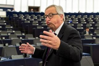 Жан-Клод Юнкер выступил перед почти пустым залом Европарламента