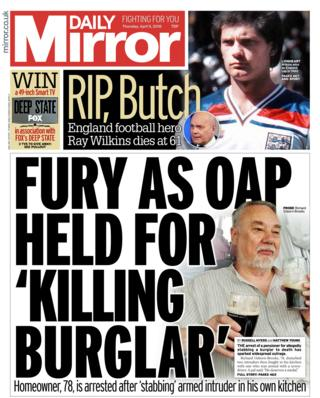 Mirror front page 5th April