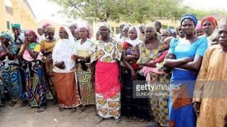 Wasu daga cikin iyayen 'yan matan Chibok
