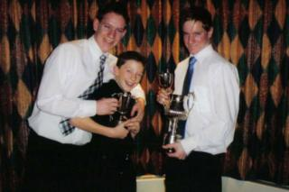 Christian MacLeod, middle, with his cousins Michael, left, and Neil Howitt
