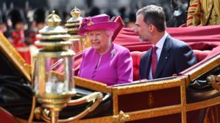 The Queen and King Felipe