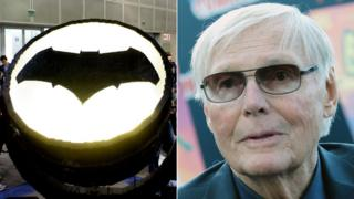 Bat signal and Adam West