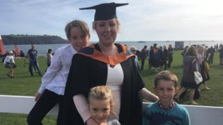 Caitin Dean and her children