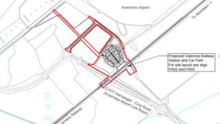 Plan of Dalcross station
