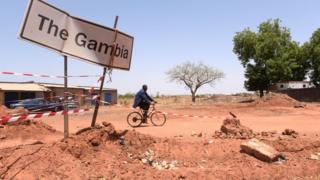 Граница Гамбии и Синегала