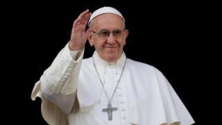 Le pape François lors de son message Urbi et Orbi à la place Saint-Pierre de Rome