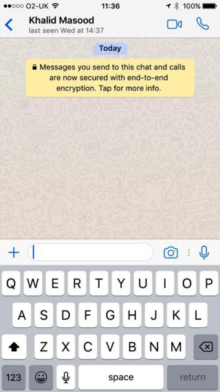 The status on the Whatsapp messenger account belonging to attacker Khalid Masood