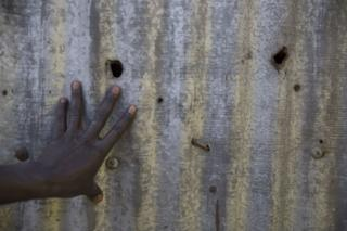 Bullet holes left when police opened fire in Dandora in 2007-8