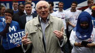 Neil Kinnock at a Stronger In rally