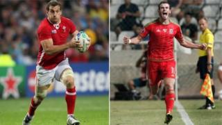 Sam Warburton a Gareth Bale