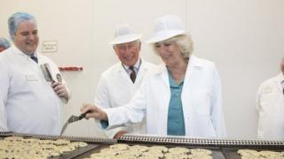 The Prince of Wales and Duchess of Cornwall visit the Village Bakery in Wrexham