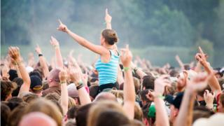 Crowd at a musical festival