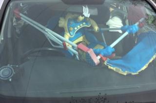 High chair in car