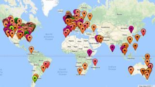 Map o'r siaradwyr Cymraeg y byd
