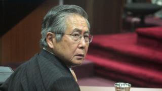 El expresidente de Perú Alberto Fujimori, durante su primer juicio, en 2007