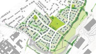 Plans for a 366-home development in Bangor have been rejected