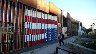 Стена между США и Мексикой