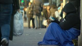 homeless person in dublin