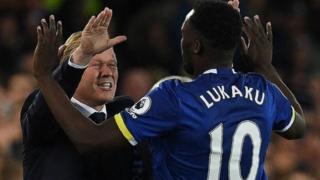 Romelu Lukaku da kociyan Everton Ronald Koeman