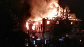 Fire at a school in Adana, southern Turkey, on November 29, 2016