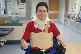 Chris Toon in his wheelchair