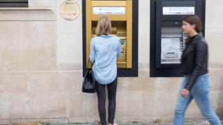 Enfield şubesindeki ATM