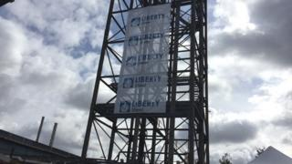 Liberty Steel signs