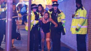 曼徹斯特體育場受傷的歌迷