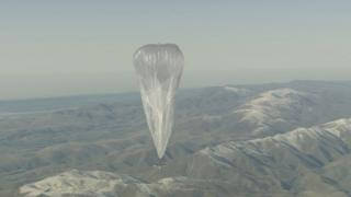 Project Loon ballons are around the size of a tennis court