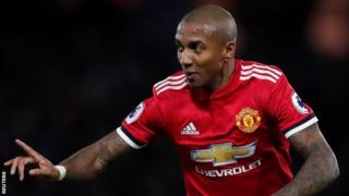 Ashley Young has made 17 Premier League appearances for Manchester United this season