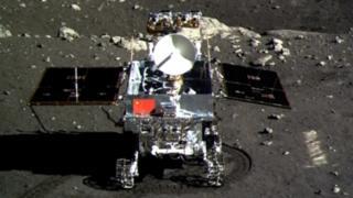 "Jade Rabbit (Yutu) moon rover taken by the Chang""e-3 probe lander"