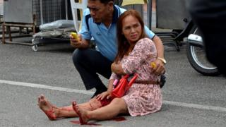 Пострадавшая от взрыва в провинции Транг в Таиланде