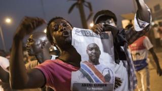 冈比亚首都班珠尔民众