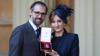JK Rowling with husband Neil Murray