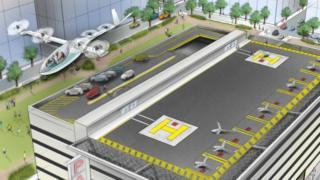 Рисунок летающего такси