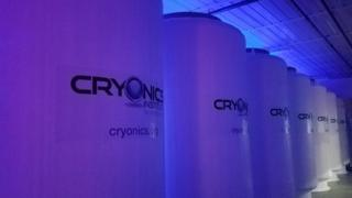 Cryonics patients are stored in liquid nitrogen