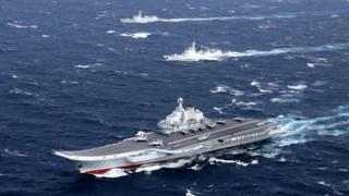 中國海軍發佈公布的遼寧號資料照片