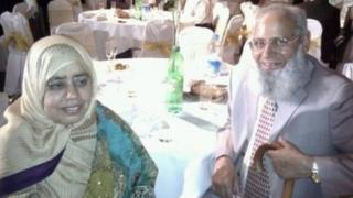 Mohammed Saleem with his wife Said Begum