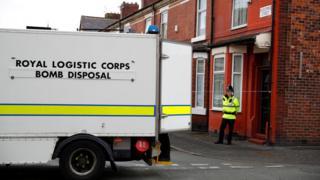 Bomb disposal van in Moss Side
