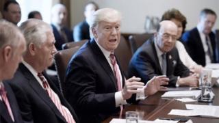 Donald Trump ve kabine üyeleri