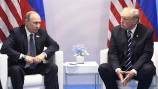 Vladimir Putin dan Donald Trump