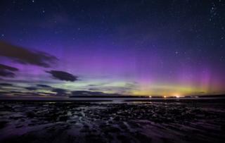 Aurora Borealis over Dunnet beach