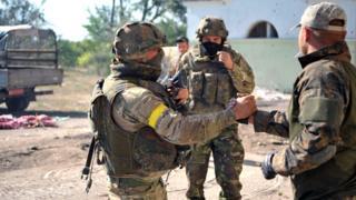 Бойцы АТО в Иловайске