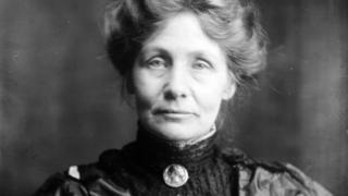 Suffragette leader Emmeline Pankhurst