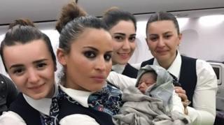 เตอร์กิช แอร์ไลนส์,คลอดทารก,คลอดบนเครื่องบิน