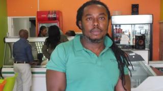 Emmeka Uhanna inside his restaurant in Randburg, Johannesburg