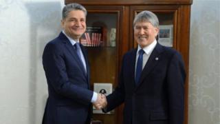 Президент Алмазбек Атамбаев Евразиялык экономикалык комиссиянын коллегия төрагасы Тигран Саркисянды кабыл алды