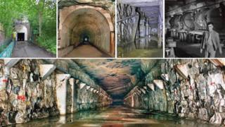 Views of the tunnels