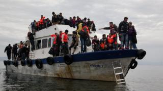 Migrants arriving in Lesbos, Oct 15